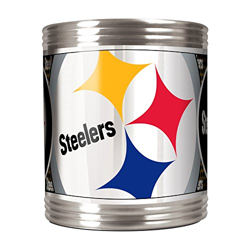 NFL Pittsburgh Steelers Metallic Can Holder, Stainless Steel at Steeler Mania