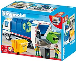 Playmobil City Action - Camión de reciclaje con luces (4129)