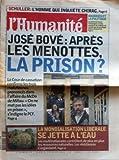 Menotte Homme HUMANITE  du 07/02/2002