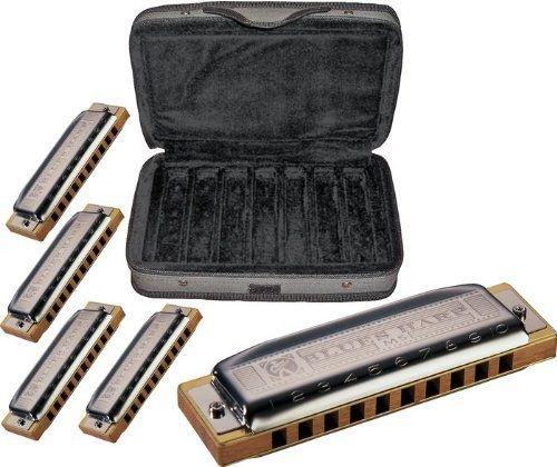 Hohner COB Case of Blues 5 Harmonica Bundle Keys of G, A, C, D, and E (Hohner Harmonica Blues Harp compare prices)