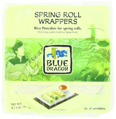 Blue Dragon Wrappers, Spring Roll, 4.7-Ounce (Pack of 12) (Dragon Rice compare prices)