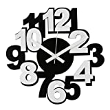 Windsor 32 cm Plastic Wall Clock with Numerals, White/ Blackby Windsor