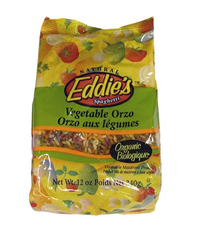 Eddie's Orzo Vegetable Pasta Organic, 12-Ounce Bags (Pack of 12)