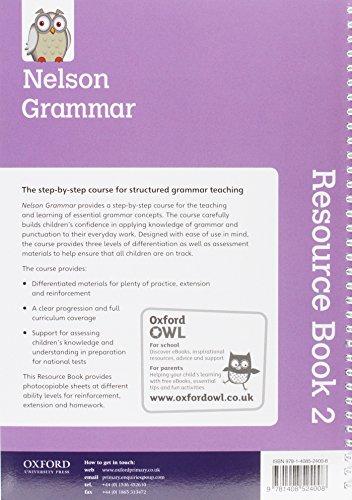 New Nelson Grammar Resources Book KS2