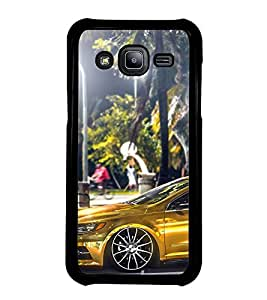 Fuson Premium 2D Back Case Cover Stylish car With blue Background Degined For Samsung Galaxy J2::Samsung Galaxy J2 J200F