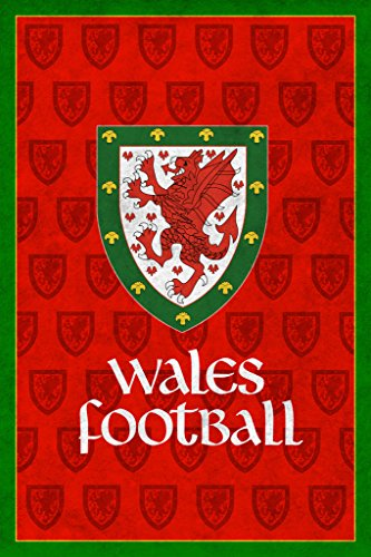 Wales Football Retro National Team Sports Poster 12x18