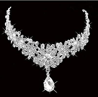 Type61 Lady Rhinestone Flower Wedding Bridal Head Wear Hair Band Headdress Chain Jewelry