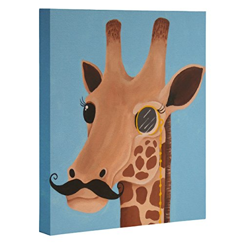 "DENY Designs Mandy Hazell Gentleman Giraffe Art Canvas, 16"" x 20"""