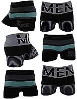 Lot de 6 boxers en microfibre sans couture pour hommes ROCKMAN