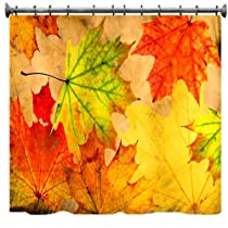 Autumn Leaves Grunge Shower Curtain - 69