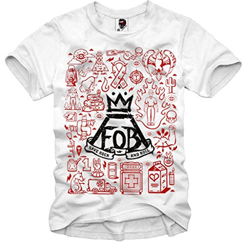 E1SYNDICATE T-SHIRT FOB FALL OUT BOY TOUR CONCERT TICKET CD LP COLLAGE S-XL