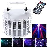 Lixada 100-240V 24W RGBW 6チャンネルDMX512 ステージライト パーティーライトLEDプロジェクター DJ/ホーム/KTV/ディスコ/舞台照明/LEDライト