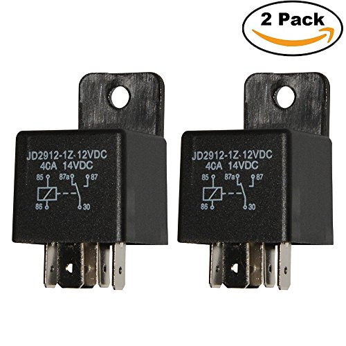 Ehdis Motor Relay 5 Pin 12V Coil 40amp Spdt Model No.: JD2912-1Z-12VDC 40A 14VDC, Contactor Relay Switch Power, Auto Switches & Starters, 2 Pack (12v Coil Contactor compare prices)