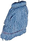 Impact 36116 Layflat Screw-Type Cut-End Blend Wet Mop Head with No-Tangle Band, 16 oz, Blue (Case of 12)