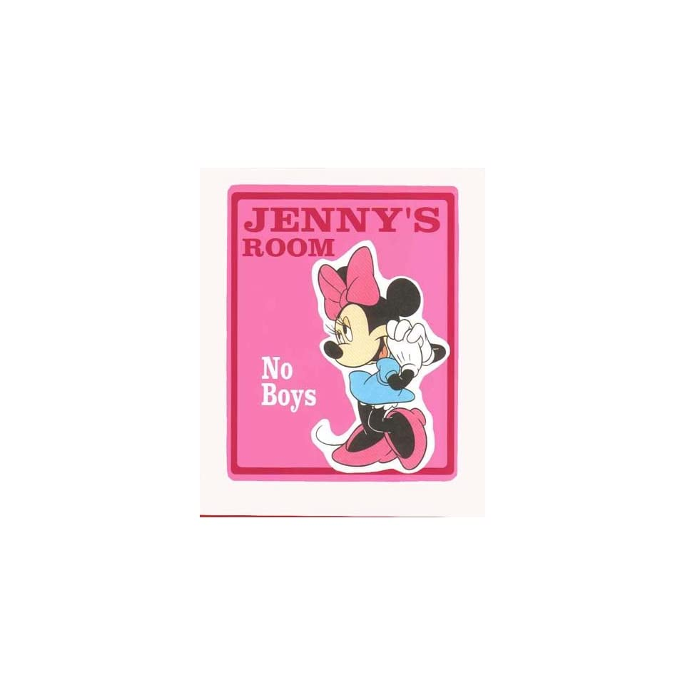 MINNIE MOUSE Girls Bedroom Door SIGN, Personalized on PopScreen