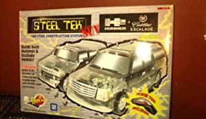 Steel Tek SUV H2 Hummer & Escalade construction set-465 parts, features battery-operated Power Tool with 4 attachments