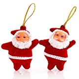 Tinksky Mini Santa Claus Pendant for Christmas Tree Hanging Decorations 20pcs (Red)