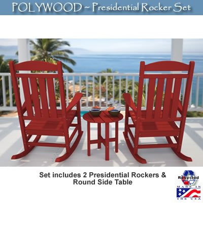 Polywood Rocking Chair front-652980