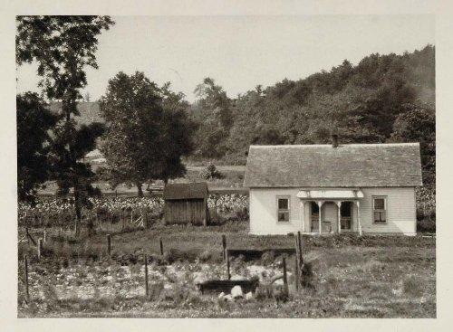 1927 Homestead House Kansas Photogravure E. O. Hoppe - ORIGINAL PHOTOGRAVURE - Original Photogravure