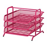 IKEA DOKUMENT - Letter tray, pink