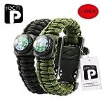 Tech-P Survival Gear Paracord Bracele...