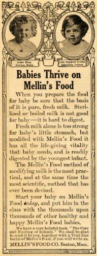 1911 Ad John Spurgeon Crump Columbus Mellins Food Baby - Original Print Ad front-1018005