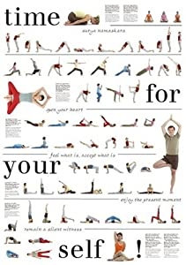 Yoga-Poster mit 67 Asanas, Nice to meet Your Self