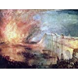 The Museum Store - The Burning Of The Houses Of Parliament By William Turner - A Fine Art Print - 11 X 14 Inches...