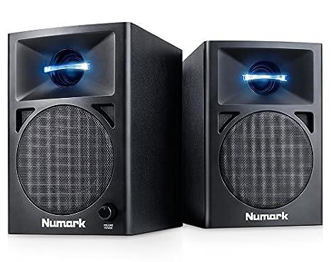 Numark N-Wave 360 - Paire de Enceintes de Monitoring Actives pour DJ, 60W