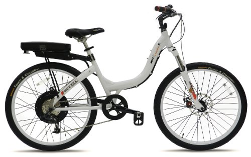 Prodeco V3 Stride 500 8 Speed Electric Bicycle, Pure White Gloss, 26-Inch/One Size