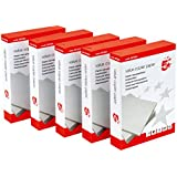 5 Star risma di carta multifunzione per fotocopiatrice, 80 gsm, A4, bianca [5 x 500 fogli]
