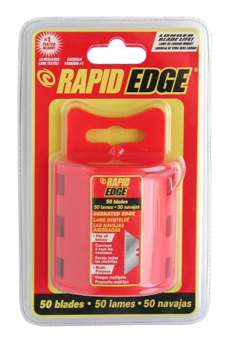 Rapid Tools RT00015 Serrated Utility Knife Blades, 50-Pack