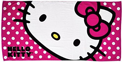 Sanrio-The-Northwest-Company-Hello-Kitty-Happy-Kitty-Beach-Towel-30-by-60