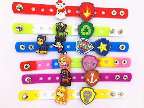 Buy Bargain 20 (Puppy Power) Paw Patrol Bone Shield Background Charms & Wristband Bracelet