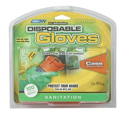 Camco 40285 Green Disposable Dump Glove - 50 Pairs