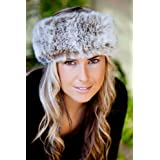 Sumptuous Faux Fur Headband (Light Brown Frost)