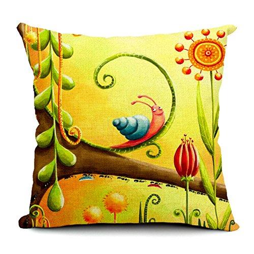 """HomeChoice resistente Home-Tovaglioli in cotone e lino, motivo: plaid a lumaca decorativa per cuscino, con diamantino, Cuscino, federa per cuscino, 46 cm x 45,72 (18"""") 45,72 cm ((18 (18 x 45,72 cm)"""