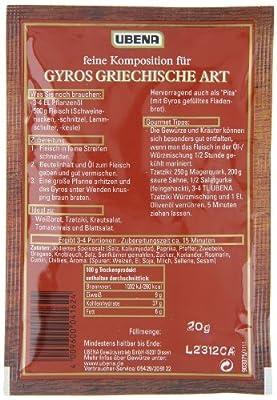 """Ubena Gyros """"Griechische Art"""", 4er Pack (4 x 20 g) von UBENA bei Gewürze Shop"""