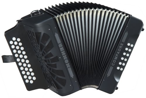 Hohner Compadre G/C/F 3-Row Diatonic Accordion - Black (Hohner Accordion Parts compare prices)