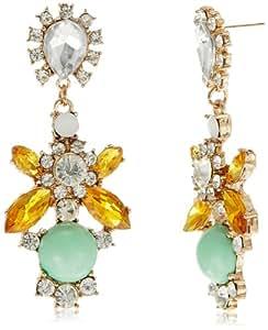 Meera Mittal Drop Earrings for Women (Gold) (ER-STM-8)