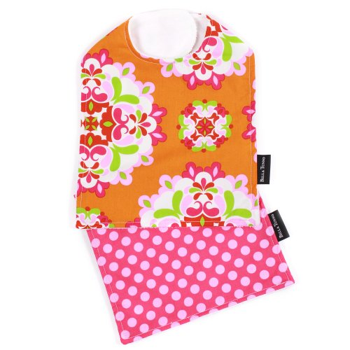 Bella Bib and Burpie Bundle, Dreamsicle Swirl/Hot-to-Dot Fuchsia - 1