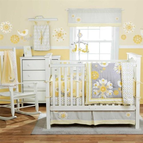 Yellow and grey baby room decorating ideas bedroom decor - Gray and yellow baby room ...