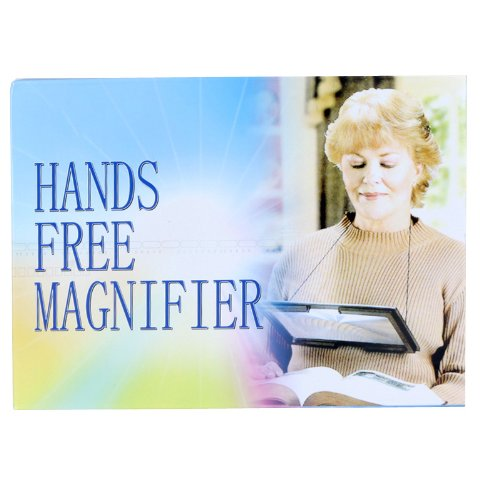 Imonic Large A4 Page Hands Free Magnifying Glass With Light Led Magnifier For Reading