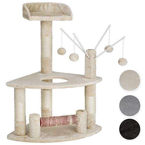 TecTake Tiragraffi per gatto gatti gioco albero 90cm - disponibile in diversi colori - (Beige | no. 402085)