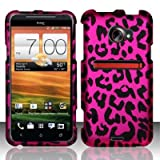 Cell Phone Case Cover Skin for HTC Evo 4G LTE Sprint - Pink Leopard