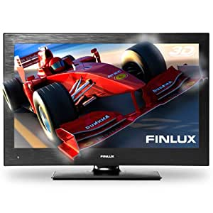 Finlux 22F7030 22-Inch Widescreen Full HD 3D LED TV with Built-in Freeview & PVR plus 4x 3D Glasses - Black