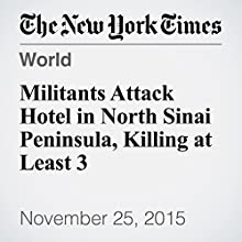 Militants Attack Hotel in North Sinai Peninsula, Killing at Least 3 (       UNABRIDGED) by Kareem Fahim Narrated by Keith Sellon-Wright