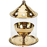 Refreshdeal Akhand Diya Brass Deepak Diwali Pooja Item - Deepawali Lighting Brass Oil Diya Diwali Decoration Pooja...