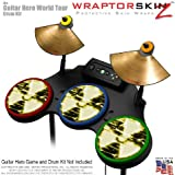 Radioactive Yellow Skin by WraptorSkinz fits Guitar Hero 4 World Tour Drum Set for Nintendo Wii, XBOX 360, PS2 & PS3 (DRUMS NOT INCLUDED)