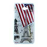 Exclusive Design For HTC Desire 601 Hard Back Case Cover - Flag Tower